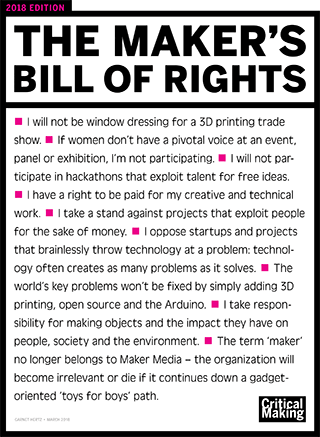 The Makers Bill of Rights: 2018 Edition
